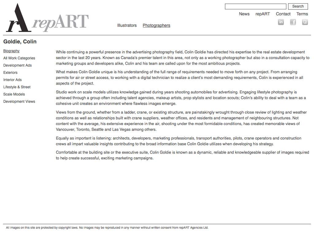repART - Photographers - Single Photographer - Biography