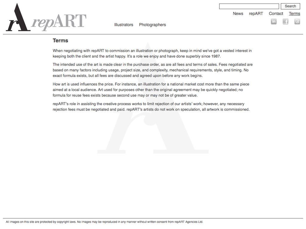repART - Terms